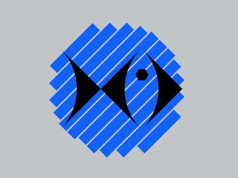 BLUE - BISTRO LOGO vector blue branding illustration geometry shape minimal design symbol sign logotype logo