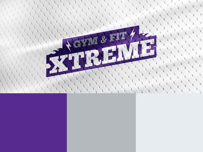GYM & FIT XTREME motivation workout fitness training gym logo minimal vector logotype shape branding design typography logo gym brand identity brand