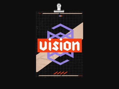 VISION poster design plakat vector illustration geometry shape minimal design typography poster