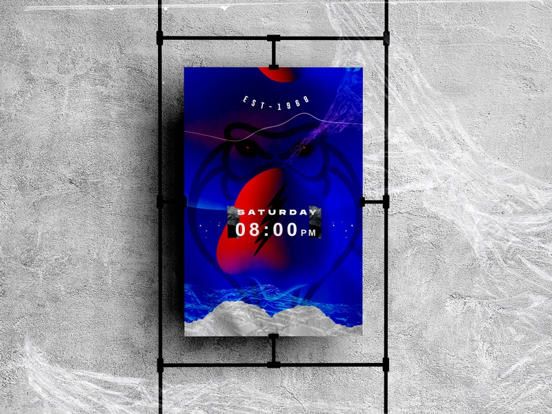 SATURDAY NIGHT🌌 technology stars space poster a day wrinkled texture poster art blue vector black abstract illustration geometry shape minimal design typography poster