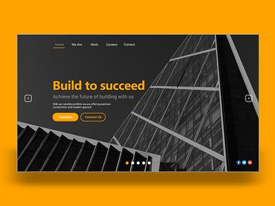 FORUM ARCH - LANDING UI adobexd web homepage uixdesign flat black logo branding geometry shape minimal design typography ui design uiux ui