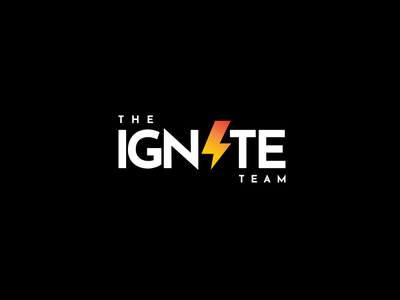 THE IGNITE TEAM minimal logo design branding real estate team real estate agent real estate logo realestate property lightning typography logo designer logodesign logotype