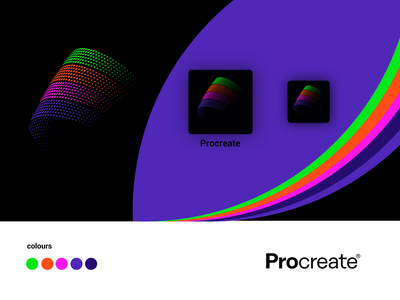 Procreate App Icon procreate app procreate brush paint draw icon app illustration geometry shape design apple pencil colors ipad apple