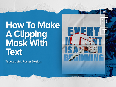 CLIPPING MASK TUTORIAL howto photo poster design poster a day type typeface poster gradient vector branding illustration geometry shape minimal design typography tutorial animation tutorial tuts