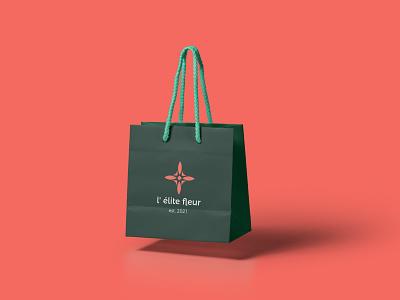Paper Bag Florist Shop mark designs smallbusiness shop packaging illustration geometry shape design typography branding logotype logo minimal flower logo florist logo flower bag eco paper