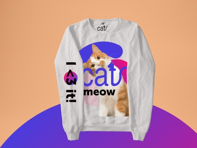 I <3 cat! CREWNECK graphicdesign graphics cats meow hoodies illustration geometry shape design typography merchandise design pet care animal pet ilovecat cat merch design hoodie merch crewneck