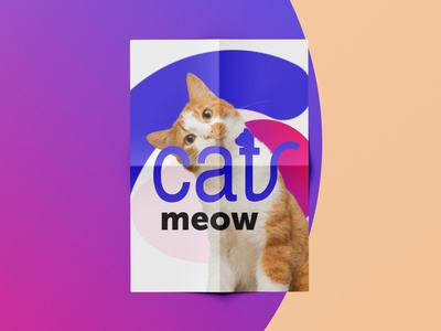 I LOVE CATS - POSTER cat cute animal cats product gumroad template plakat poster vector branding illustration geometry shape minimal design typography