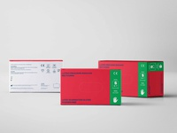 Medical Gloves-Packaging Design Set//Red