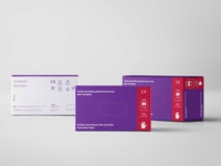 Medical Gloves-Packaging Design Set//Purple
