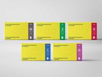 Medical Gloves-Packaging Design Set//Yellow