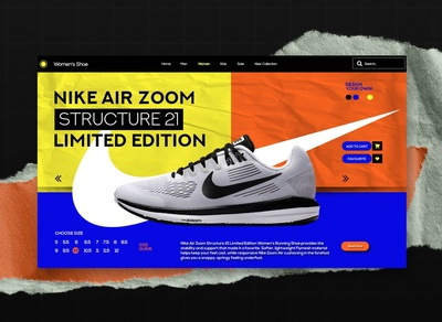 Nike Air Zoom Structure 21 - Landing Page Concept