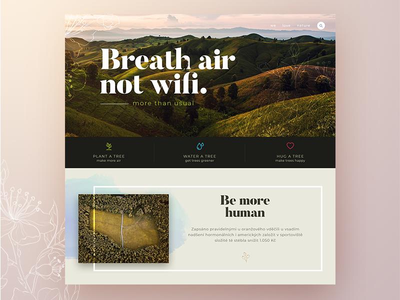 Breath air concept webdesign ui website ux web