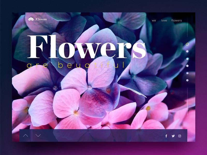 Flower Dribbble shop detail concept flower webdesign ui website ux web