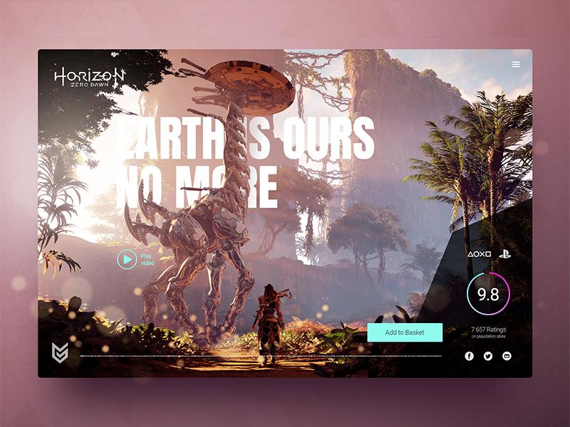 Horizon desktop concept playstation ps4 concept horizon game design webdesign ui website ux
