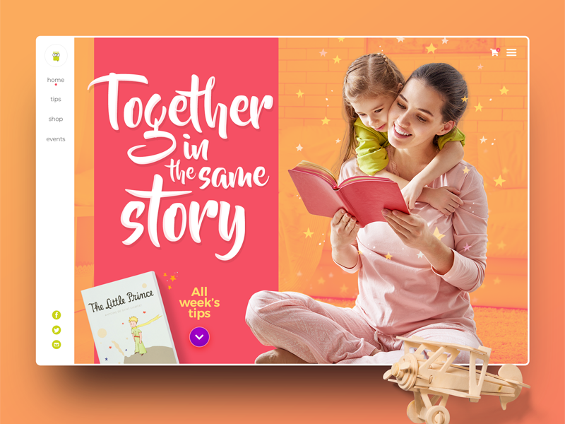 Books for children web concept books typography shop web concept website webdesign ux ui design