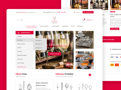 Polskie Szkło - PrestaShop Theme prestashop theme polskie szklo redesign design cart banners red polish wine collection