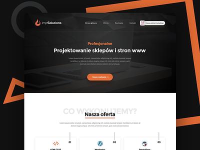 impSolutions - IT Agency Theme agency theme one page orange design clean black portfolio it wordpress prestashop
