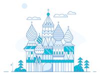 Russian Church Illustration