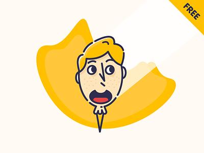 Emoji training character emoji happy icon illustration octopus outline smiling ice cream face free