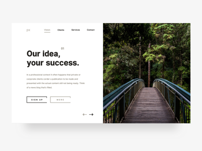 Pixel Nature download free vector typography outline ui8 premium pro design app header big buttons icons white clean sans design ux ui landing