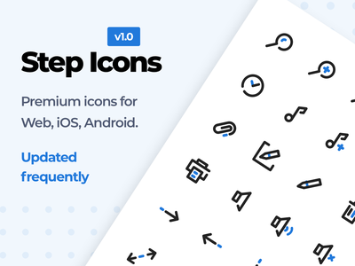 Step Icons UI8 outline web android ios perfect pixel white vector ui8 store stroke icons set icons pack icons premium icon download design clean ai