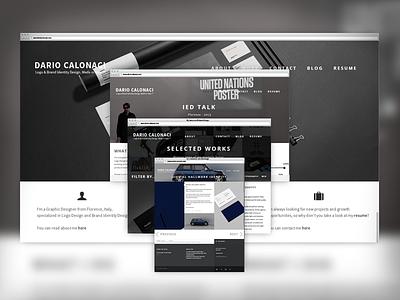 New Portfolio online! website redesigned web design flat logo logotype typography ux