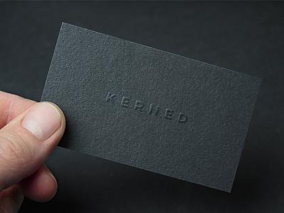 Kerned Studio Business Card blind emboss logomark mark logotype logo brand design branding identity stationery