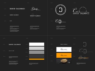 Personal Branding Guideline typograhpy mark logotype logo stationery identity brand