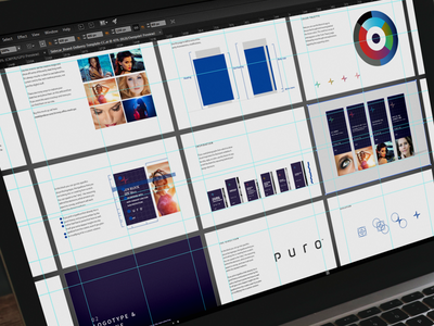 Puro Rebrand typography natural cosmetic packaging label logo design logo guideline brand identity branding