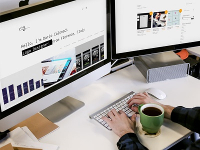 New personal website portfolio shop responsive grid typography logo web design ux ui