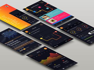 GPS + Info App stats car app dashboard apple mac iphone interface user ux ui