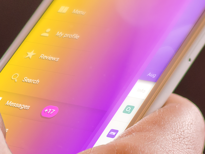 UX Menu icon colorful gradient apple imac mac ipad iphone interface ux ui menu