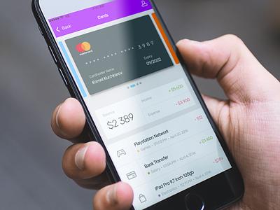 Credit Card UI + UX money economy minimal design material interface user imac mac apple iphone