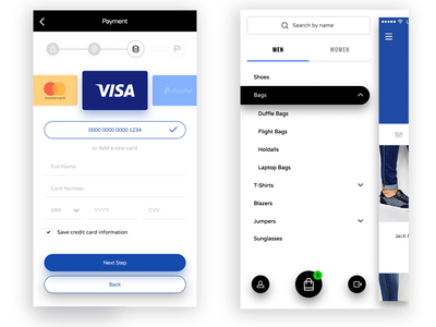 E-commerce App UI + UX ecommerce minimal app user android design google material ios iphone apple interface