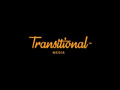 Transitional Media Logotype ligature script logomark mark logotype calligraphy handwritten brush typography lettering logo