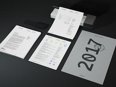 Personal Identity 2017 stationery branding layout grid fonts typography letterhead cv resume identity