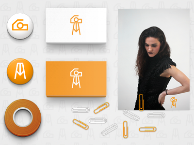 Photographer Brand photographer photo initials brand branding pic picture camera reflex identity corporate tripod stationery business card card a g uppercase