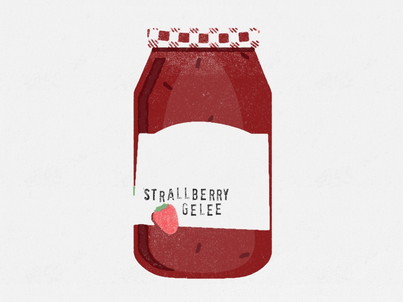 Jelly jar illustration strawberry smuckers jelly