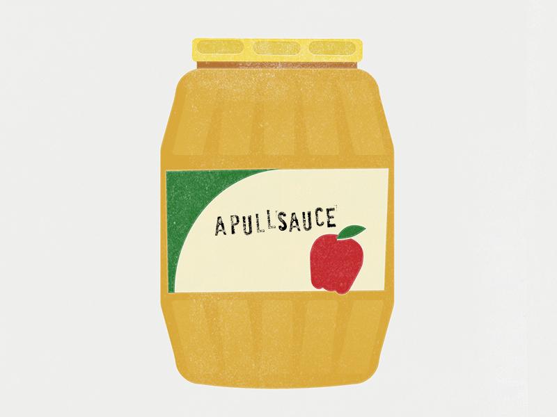 Applesauce illustration jar applesauce sauce apple