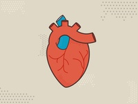 Halftone heart