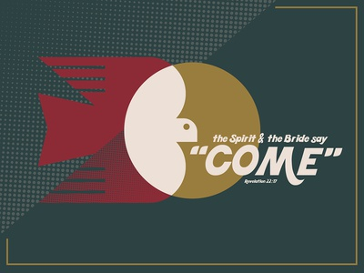'Come' an Advent graphic