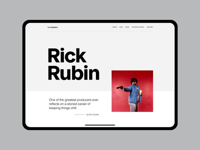 About Rick pt1 website clean white minimalist design ui