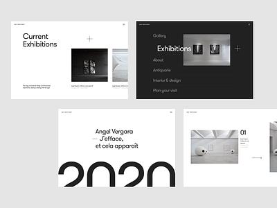 Layout exploration webdesign clean minimalist design ui