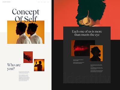 Homepage sections layout typogaphy homepage website webdesign web clean minimalist design ui