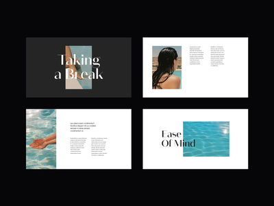 Layout Exploration presentation layout clean website web ui design minimalist