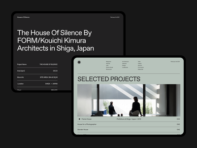 FORM Architects colors 🤤 layout website webdesign web clean minimalist design ui