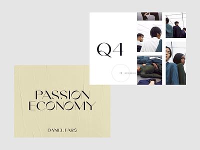 Passion Economy layouts exploration pt2 photography fashion website webdesign web clean minimalist design ui