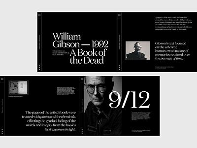 Agrippa Poem - Layout exploration author poetry article book dark typography poem clean webdesign web layout minimalist design