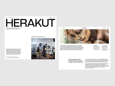 herakut.de Concept minimal artist portfolio painting drawing canvas homepage website art grafitti design webdesign layout clean web minimalist