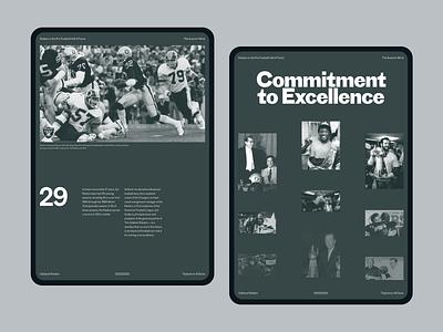 Oakland Raiders Article pt2 sports football nfl ipad blog article typography layout clean ui design minimalist webdesign website web